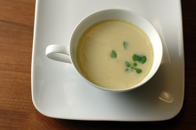 Fresh Corn Soup with Basil and Tarragon at Paprika Red