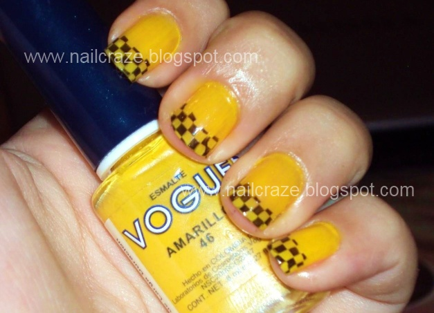 My taxi inspired nail design- this nail polish and image plate where ...
