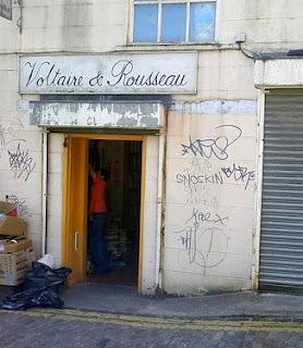 Voltaire and Rousseau Otago lane bookshop
