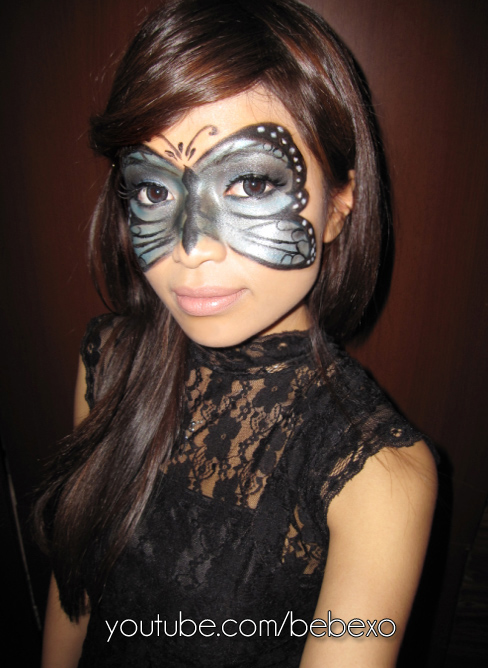 masquerade eye makeup. Butterfly Masquerade Makeup