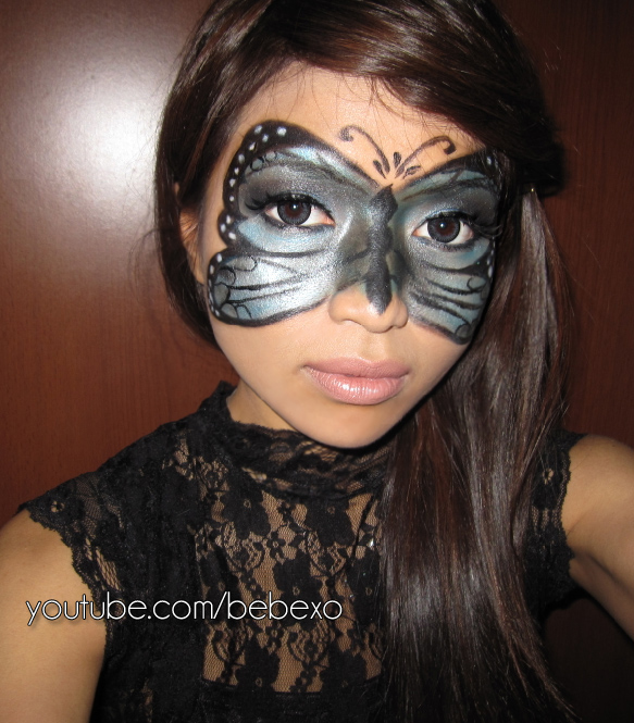 little black dress and create your own masquerade mask like I did