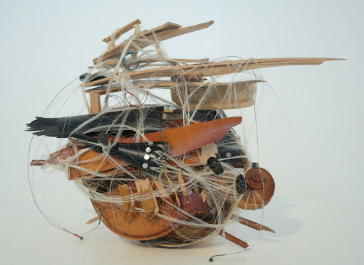 Untitled( Medusa), Violin and Horse Hair, 2005-9