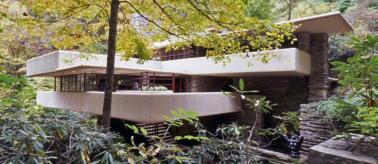 Arch1390 danny huynh frank lloyd wright falling waters for Frank lloyd wright houses