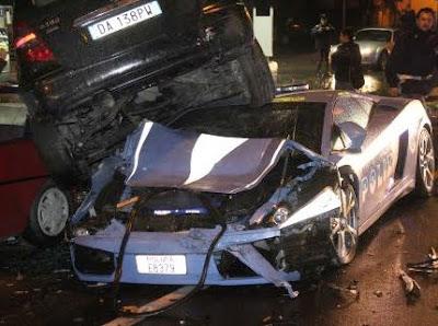 Lamborghini Gallardo destrozado