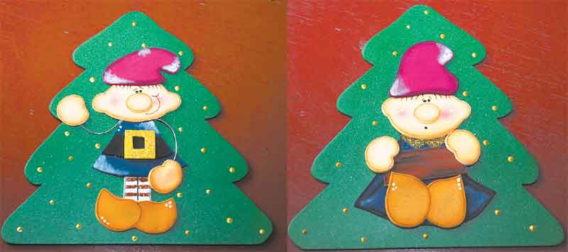 Duendes en goma eva imagui for Manualidades con goma eva para navidad