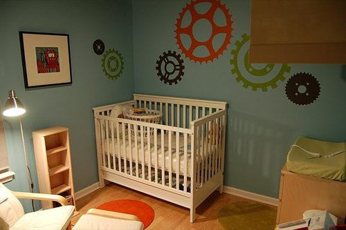Design ideas for our condo nursery designs for our baby for Robot baby room decor