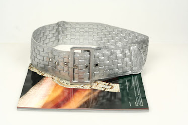 Woman silver fashion belt