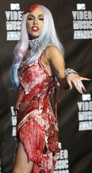 lady gaga outfits meat. Lady Gaga#39;s infamous meat