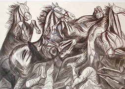 CABALLOS DEL MURALISTA JALICIENSE JOSÉ CLEMENTE OROZCO, EN LA BIBLIOTECA DE JIQUILPAN