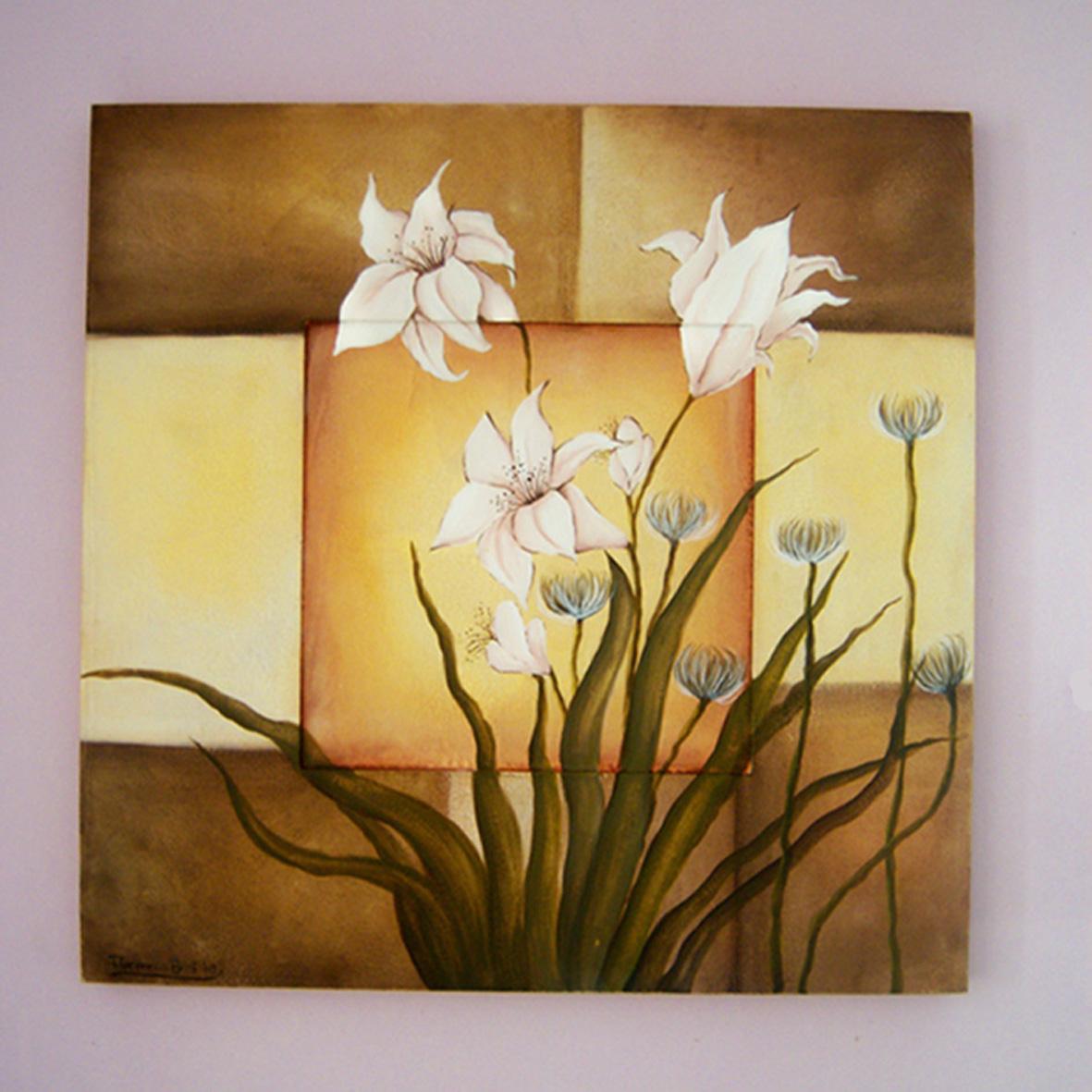 Ilustraciones y dise o de personajes flores y jirafas - Cuadros modernos faciles de pintar ...