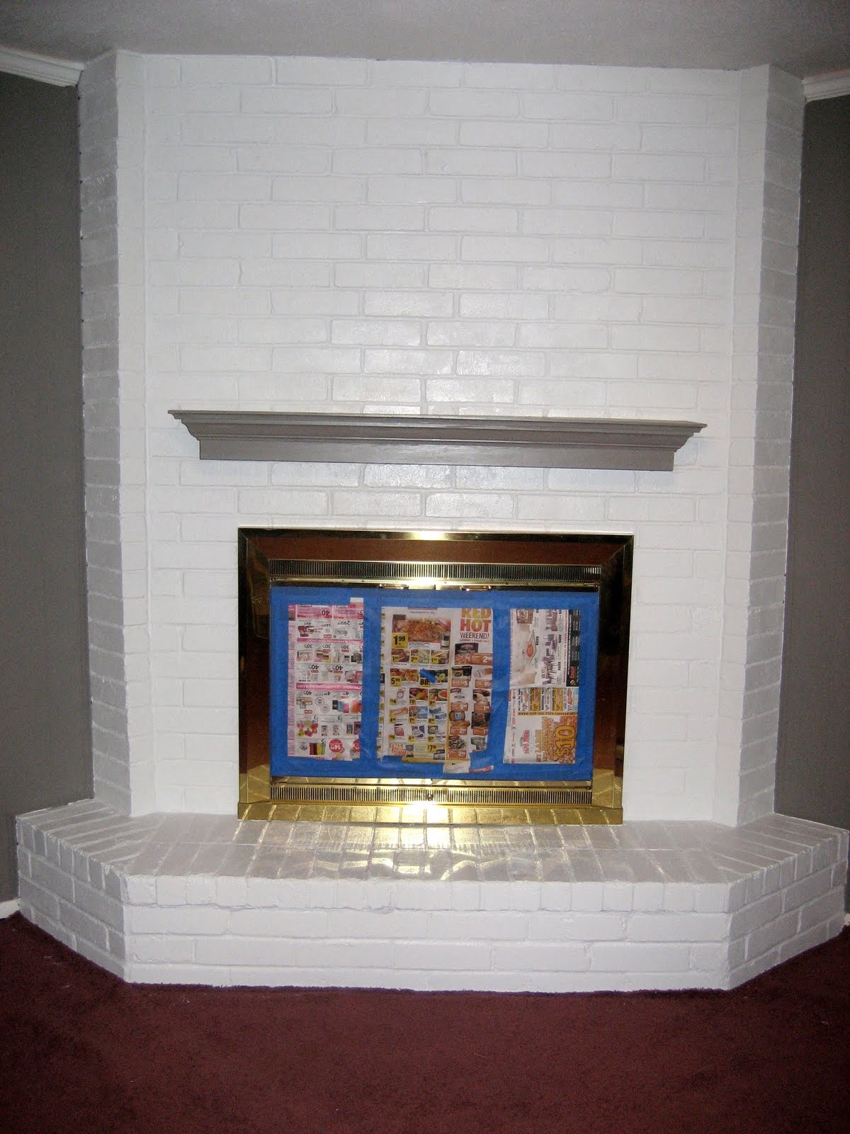 paint fireplace white caurius white painted brick fireplace dact us