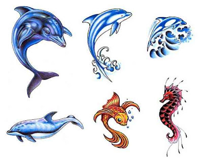 Tribal Dolphin Tattoo Design 12 » Cute Dolphin Tattoo
