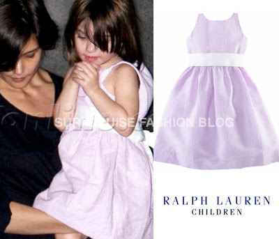 Suri is wearing Cotton Pintuck Dress by Ralph Lauren Children.