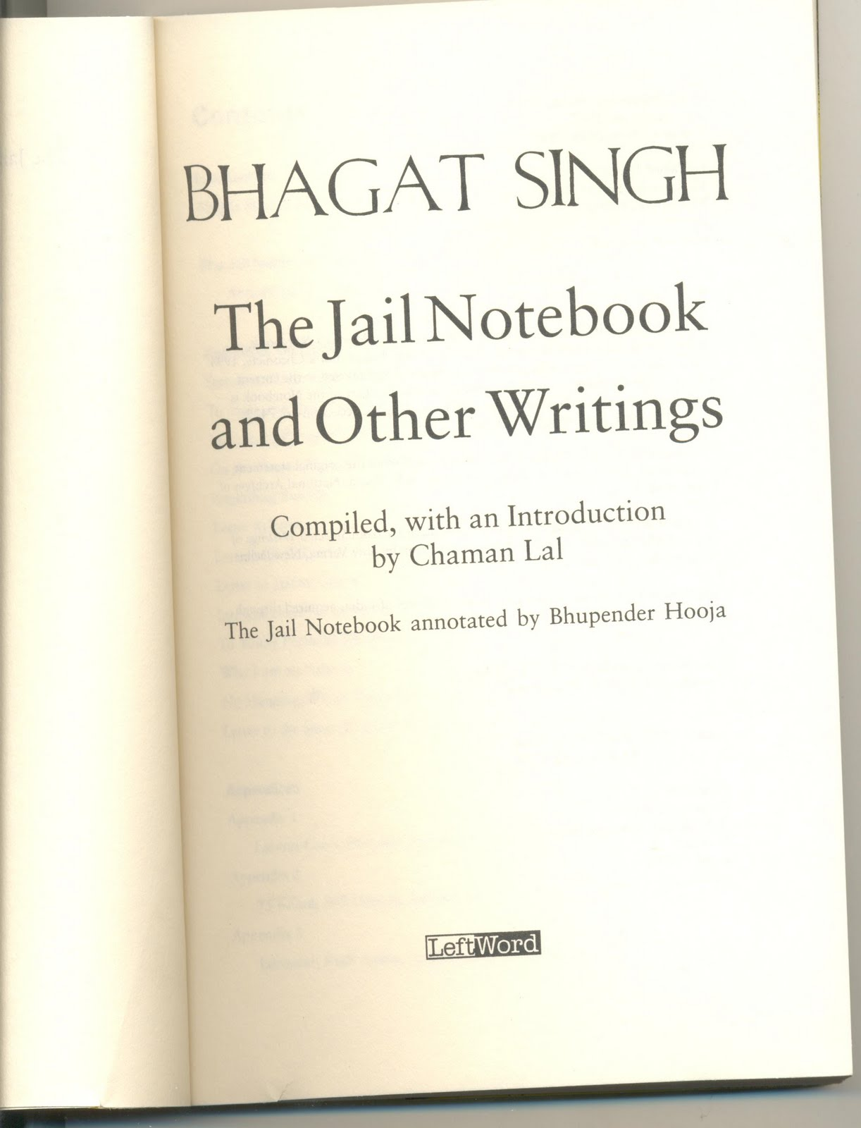 bhagat singh study chaman lal the jail notebook and other the jail notebook and other writings of bhagat singh