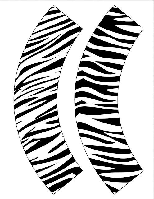 Cupcake Wrapper Zebra