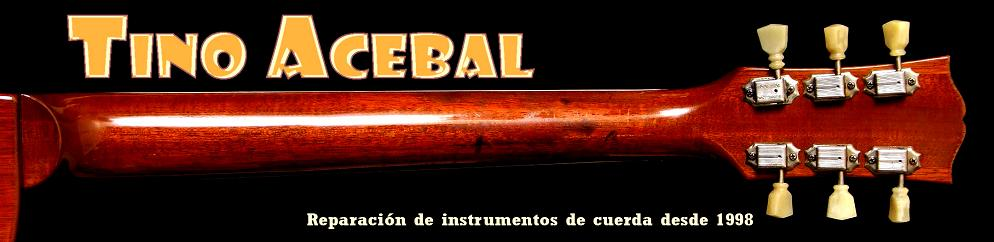 Tino Acebal´s guitar repair blogshop
