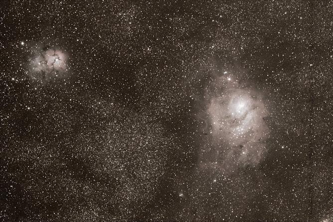 Nebulosas M8 y M20 en Sagitario