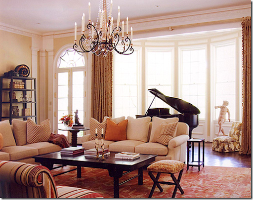 The philosophy of interior design decorating around a for Piano room decor