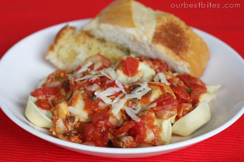 Chicas Cookin Dinner: Tomato Artichoke Pasta