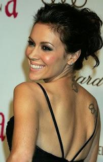 Celebrity Tattoo Picture Celebrity Alyssa Milano Tattoo On The Back Body Design