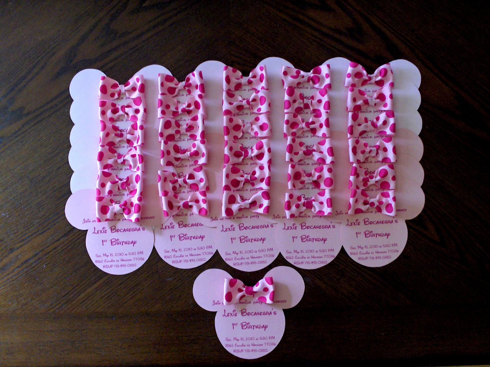 Bellygusher lexie 39 s 1st birthday minnie mouse for Baby birthday decoration photos