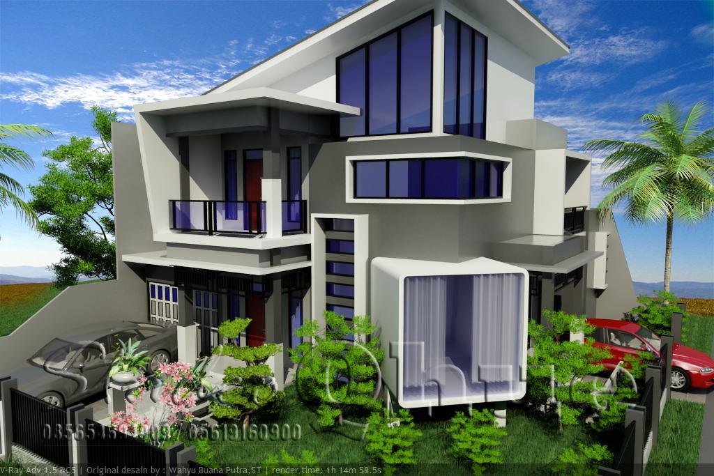 Arsitek Qhue: Rumah Modern Minimalis Dilahan Hook