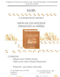 Presentación del libro: VISIÓN DE LOS VENCIDOS