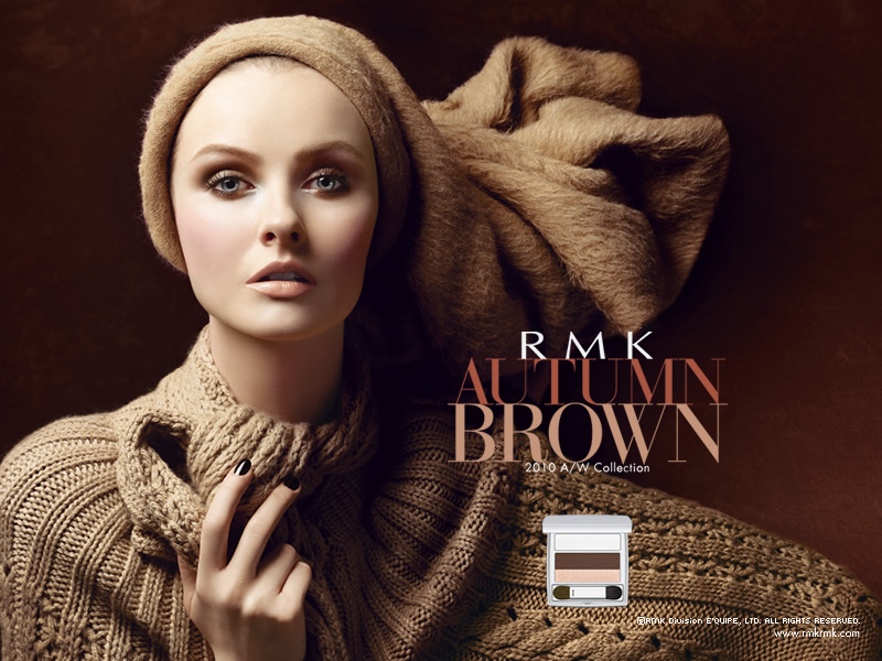 autumn makeup. RMK#39;S AUTUMN BROWN Make-Up