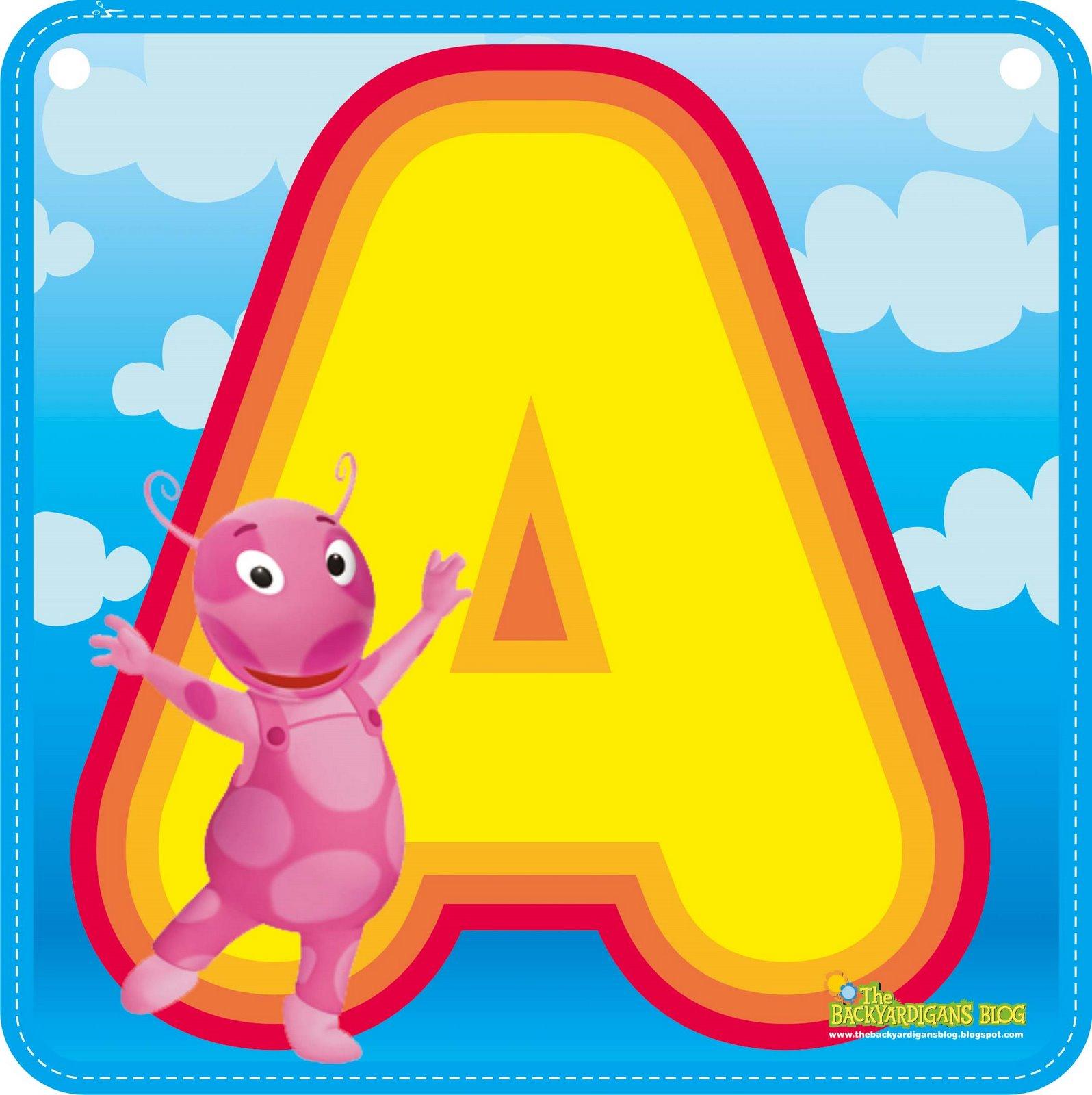 un abecedario backyardigans las imágenes pueden se pueden imprimir y ...