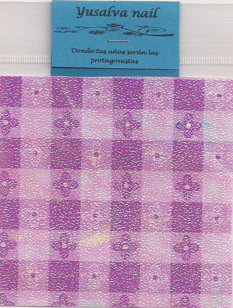 Yusalva nail papel iridiscente mallas y telas - Papel y telas ...