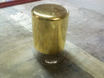 Gilded Glass Beaker Sideview