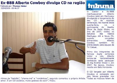 ALBERTO COWBOY NO SITE TRIBUNA DO LESTE