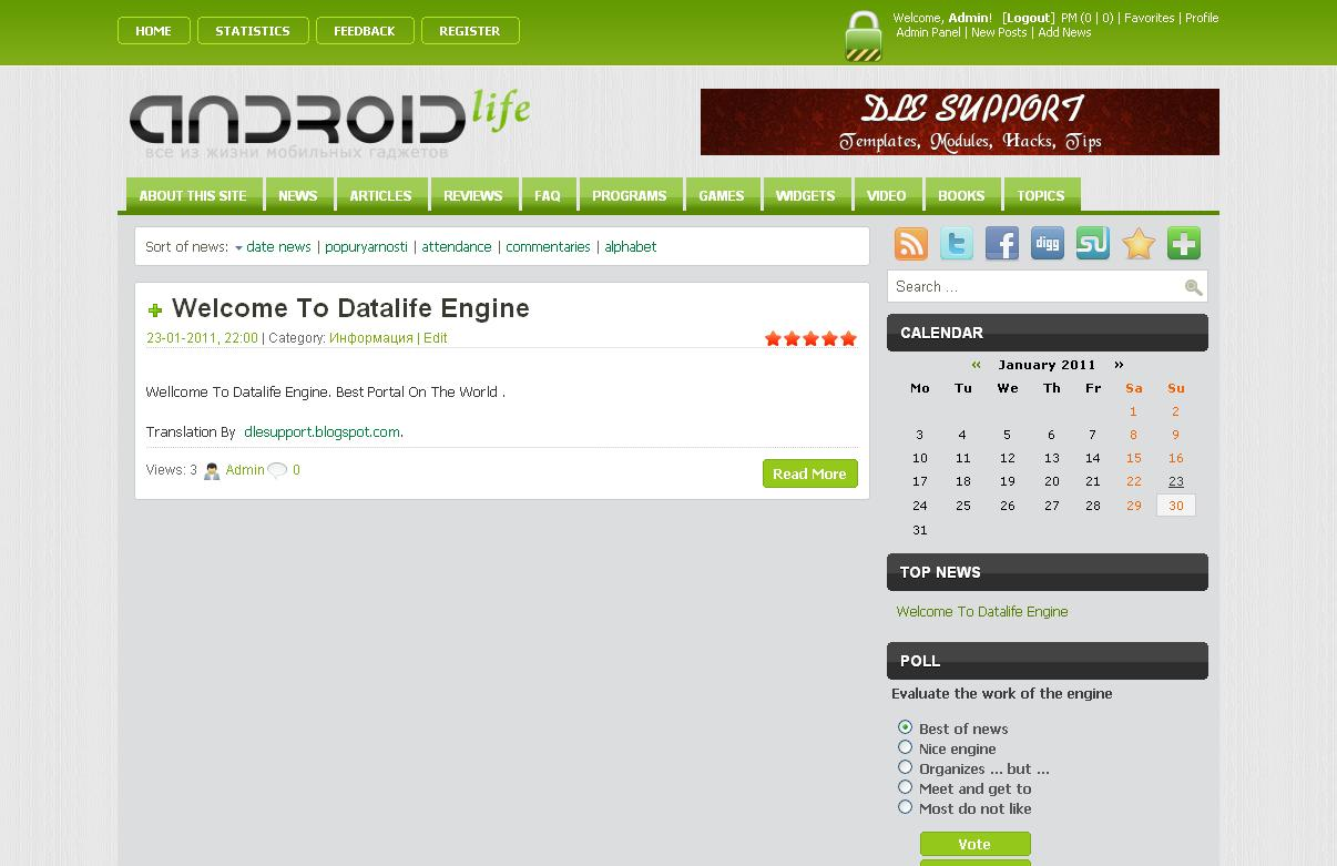 AndroidLife Template for DLE 9.2 ~ Datalife Engine Support