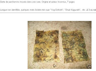 Le manuscrit perdu de Cthulhu