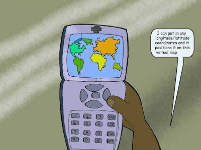 Carte du monde vu par un schizophrène