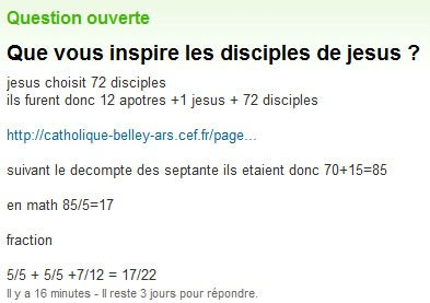 Jésus maths