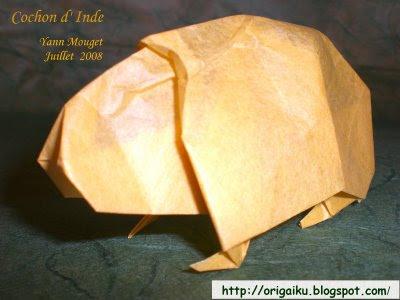 Origami cochon d'Inde