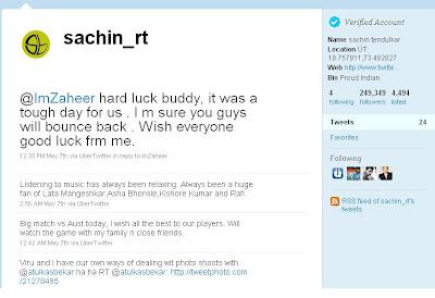 Sachin Tendulkar On Twitter