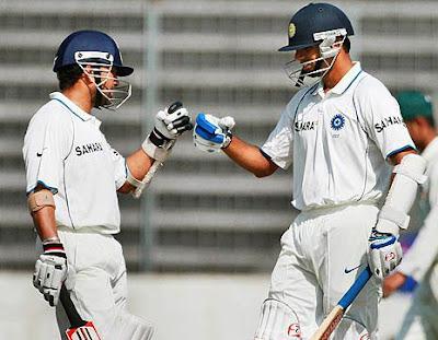 Sachin Tendulkar with Rahil Dravid