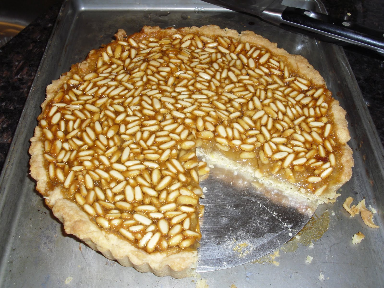 Honey and Pine Nut Tart ( Crostata di Miele e Pignoli , adapted from ...