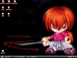 Kenshin in Black Desktop