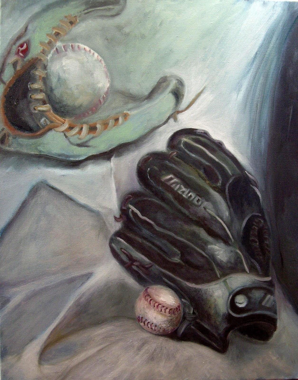 Baseball Glove Paint : My oil painting journey baseball glove