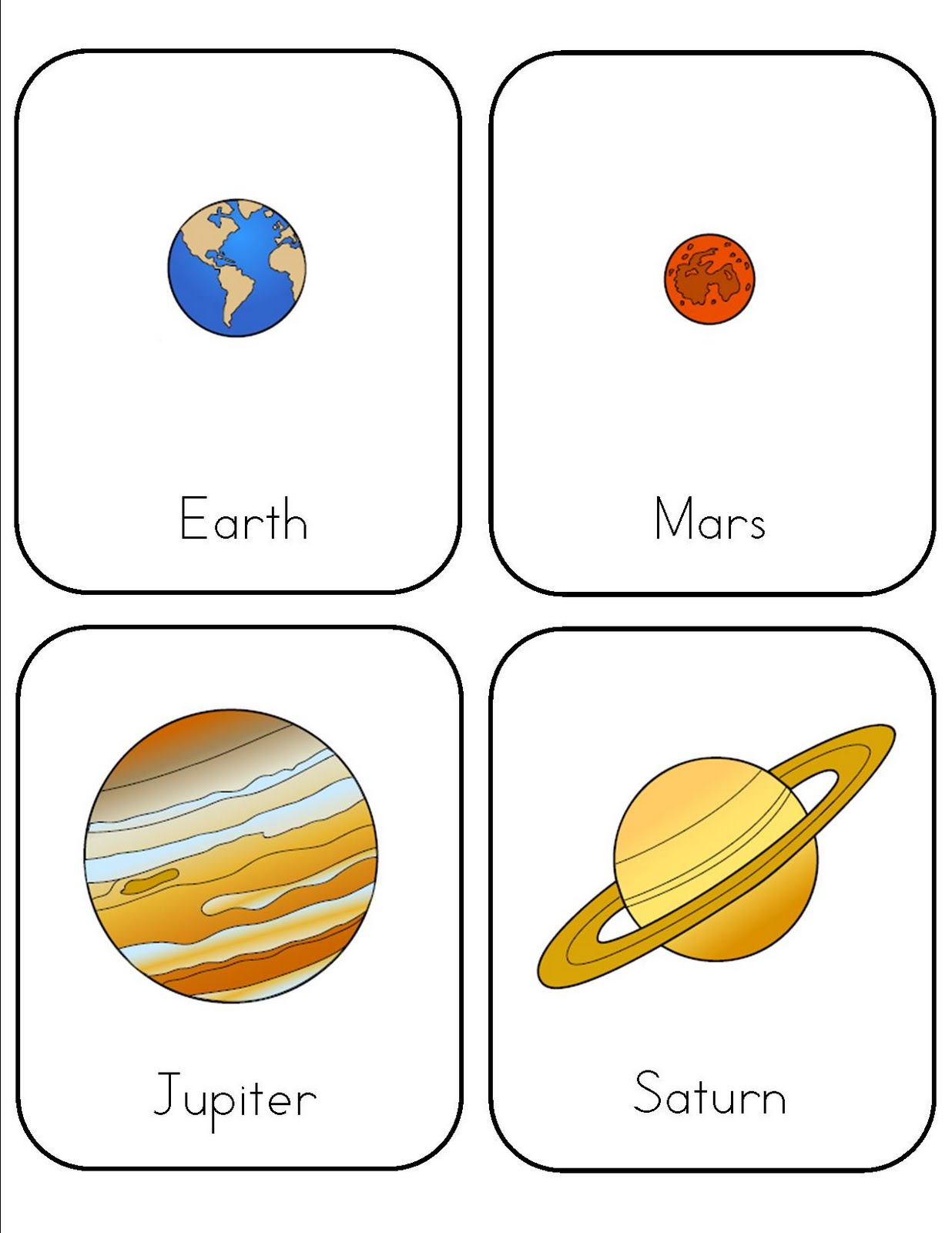 HD wallpapers planets for kindergarten worksheets