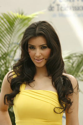 Kim Kardashian in yellow