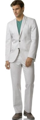 Calvin Klein Double Button Sportcoat and Flat Front Dylan Pants