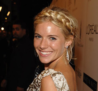 Sienna Miller wearing braids
