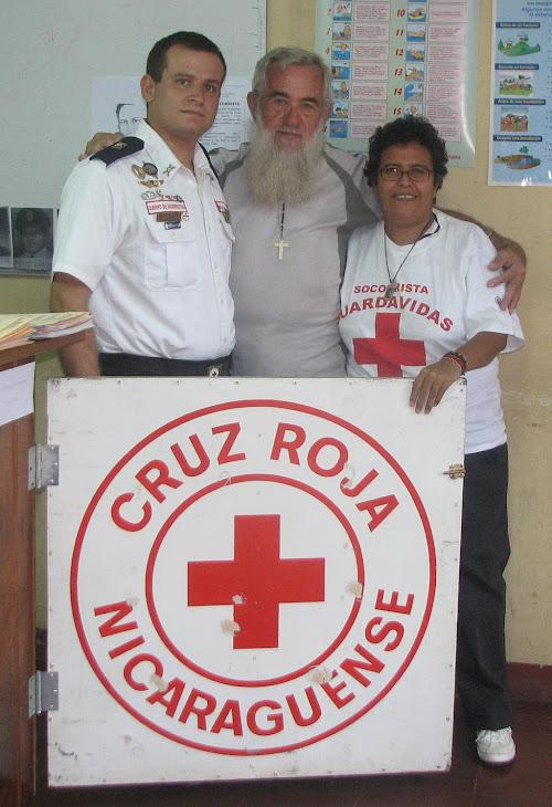 Con Valdo en su estadia en Managua en Cruz Roja Nicaraguense Belmonte