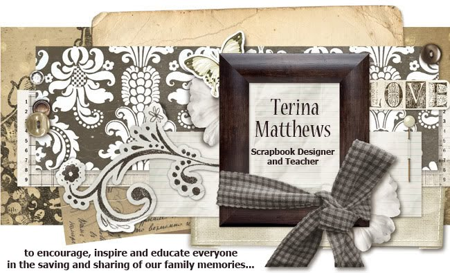 Terina Matthews Scrapbook Designer and Teacher