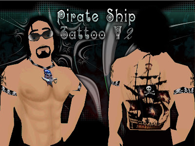 Pirate Ship Tattoo -CnT- V2 Try it Sunglasses: Show up ur eyes-Catwa-