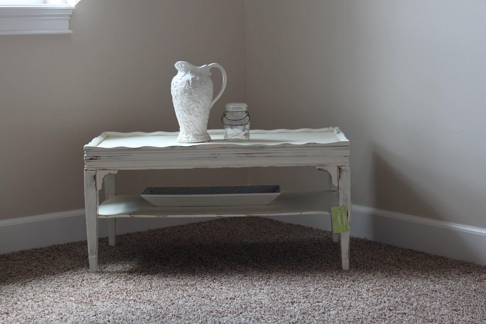 Cottage Style Coffee Table PRICE REDUCED Vintage Farm Furniture